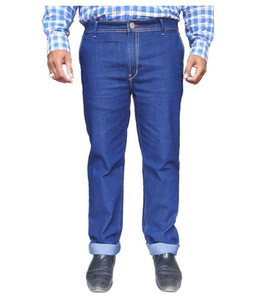 WP Blue Regular Fit Solid Jeans