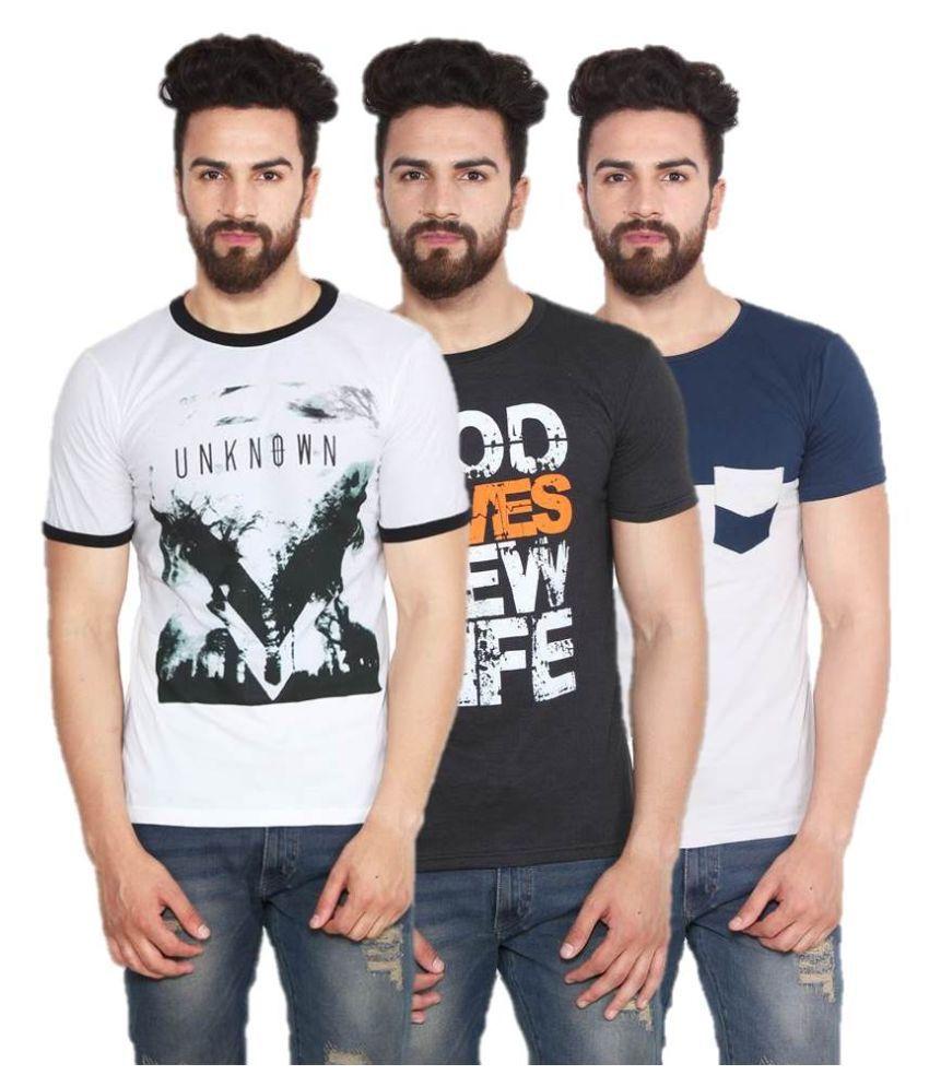 Chakkor Multi Round T Shirt Pack of 3