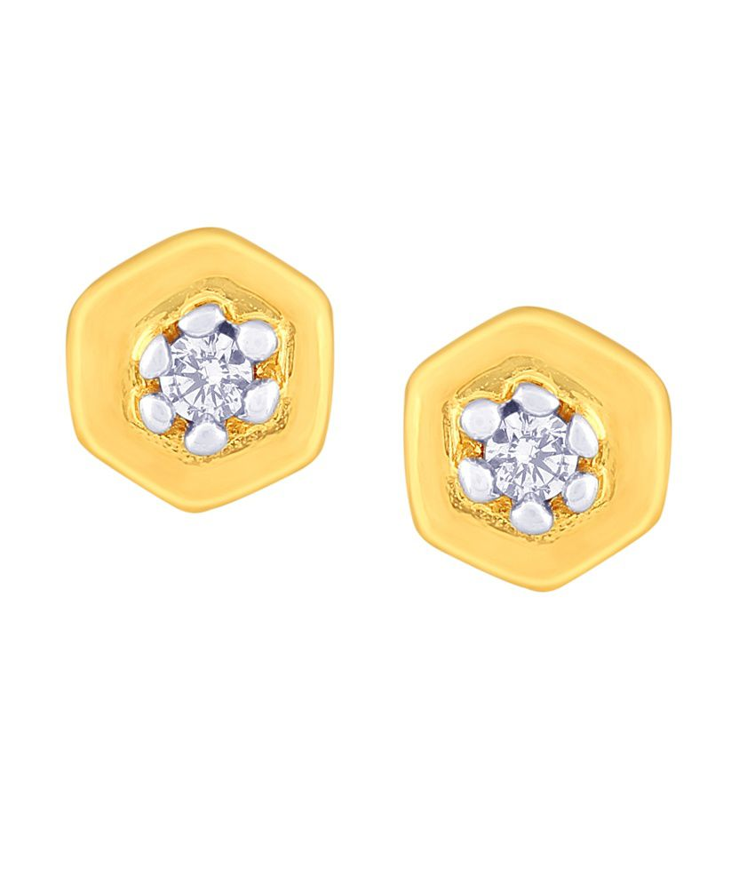 Nirvana BIS Hallmarked 18kt Gold Stud Earrings