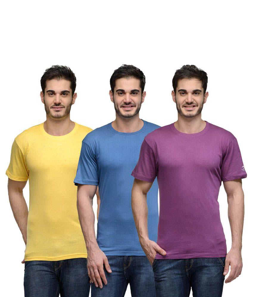 Urban Glory Multi Round T Shirt Pack of 3