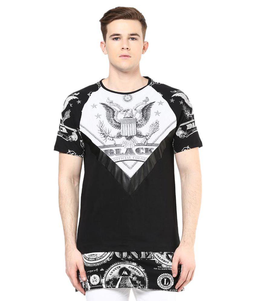 Wear Your Mind Black Round T Shirt