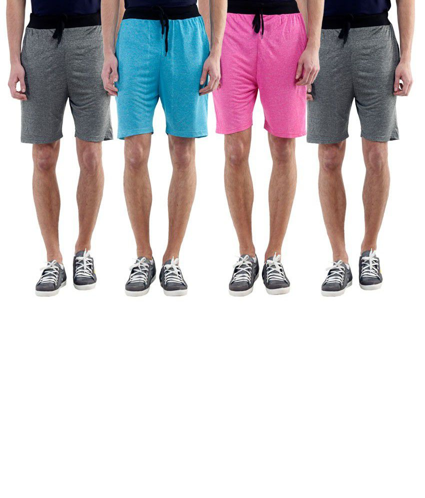 Billu Oye Multi Shorts Pack of 4