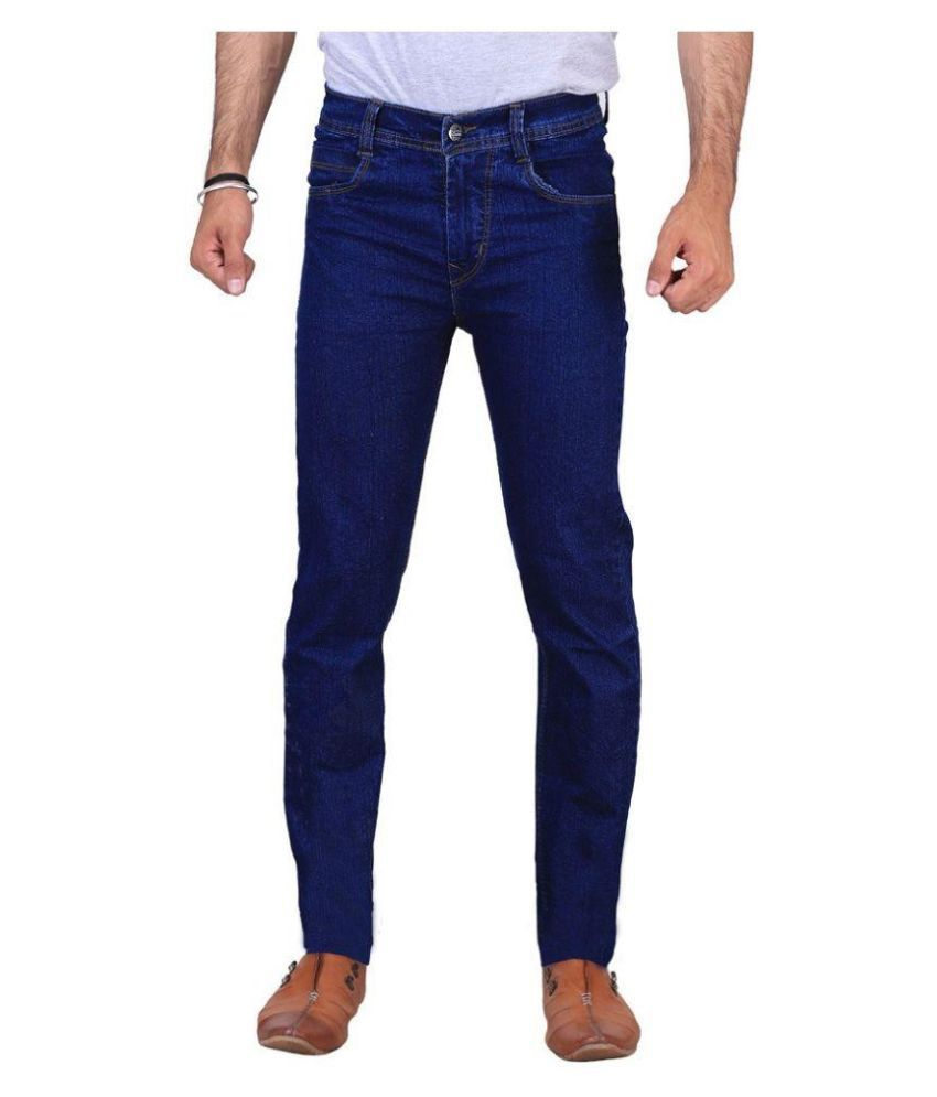 Fashion Deck Blue Slim Fit Solid Jeans
