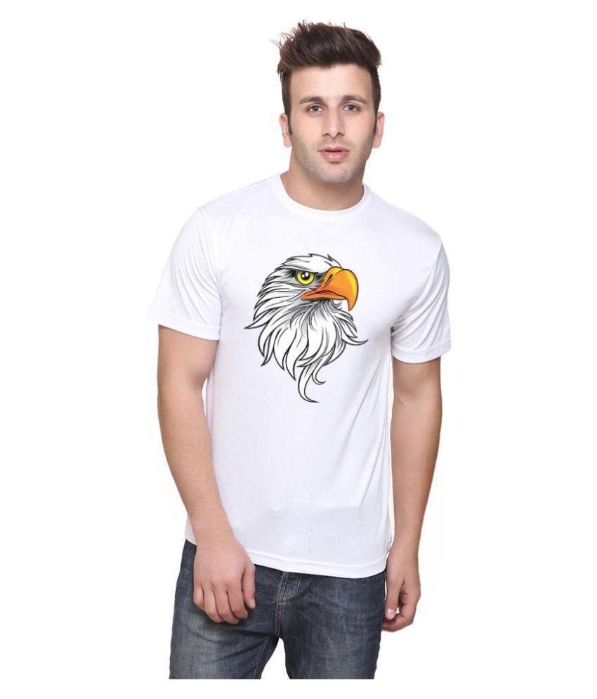 Iqu Traders White Round T Shirt