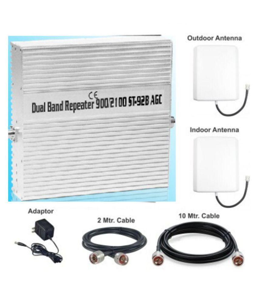 Lintratek 900-2100Mhz 2G + 3G Mobile Signal Booster ST-92B 3200 RJ11 White