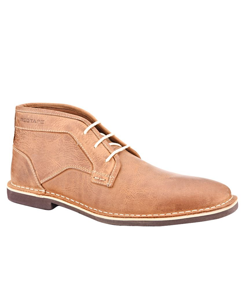 Red Tape RTS9693 Tan Boots