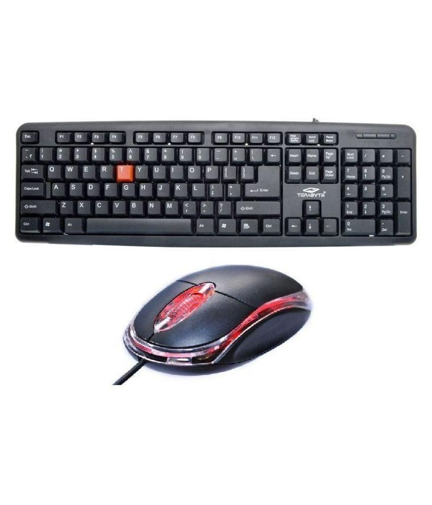 Terabyte TB USB Keyboard & Mouse Combo Black With Wire