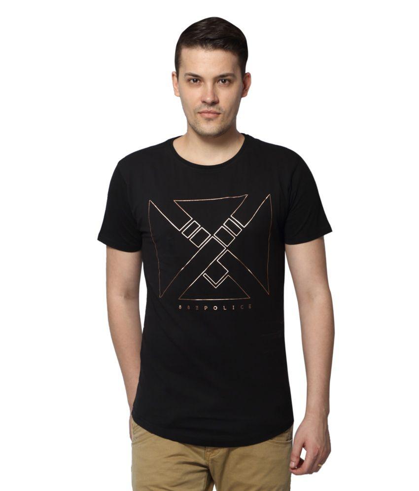 883 Police Black Round T Shirt