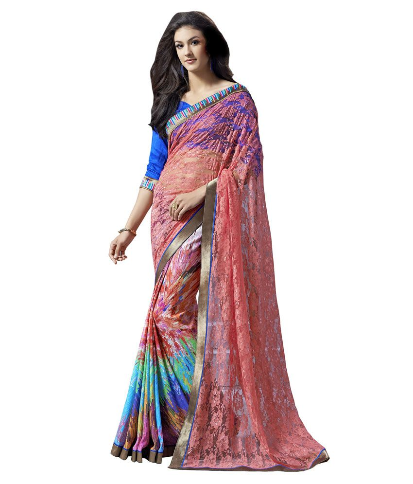 Diva Fashion Multicoloured Jacquard Saree Buy Diva