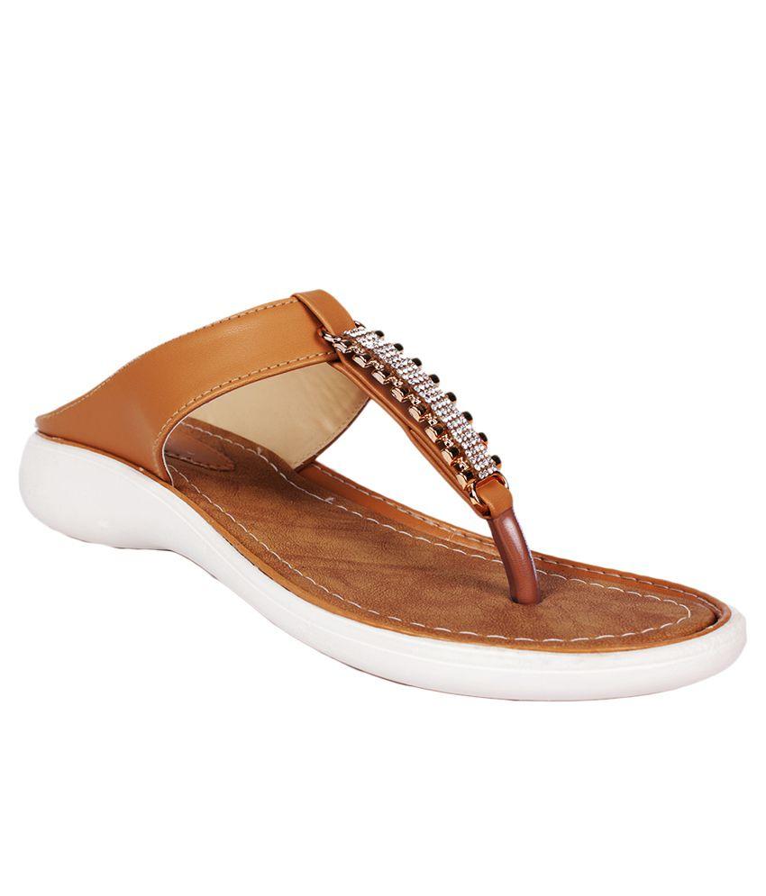 Scantia Brown Wedges Heels