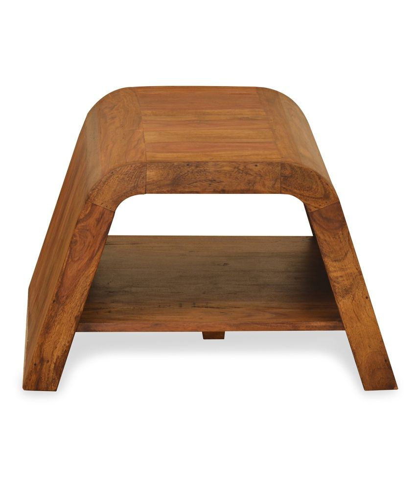 @home by Nilkamal Coal Solid Wood Side Table