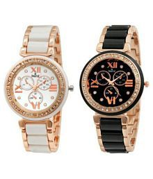 Swisstyle Multicolour Analog Watch - Pack of 2
