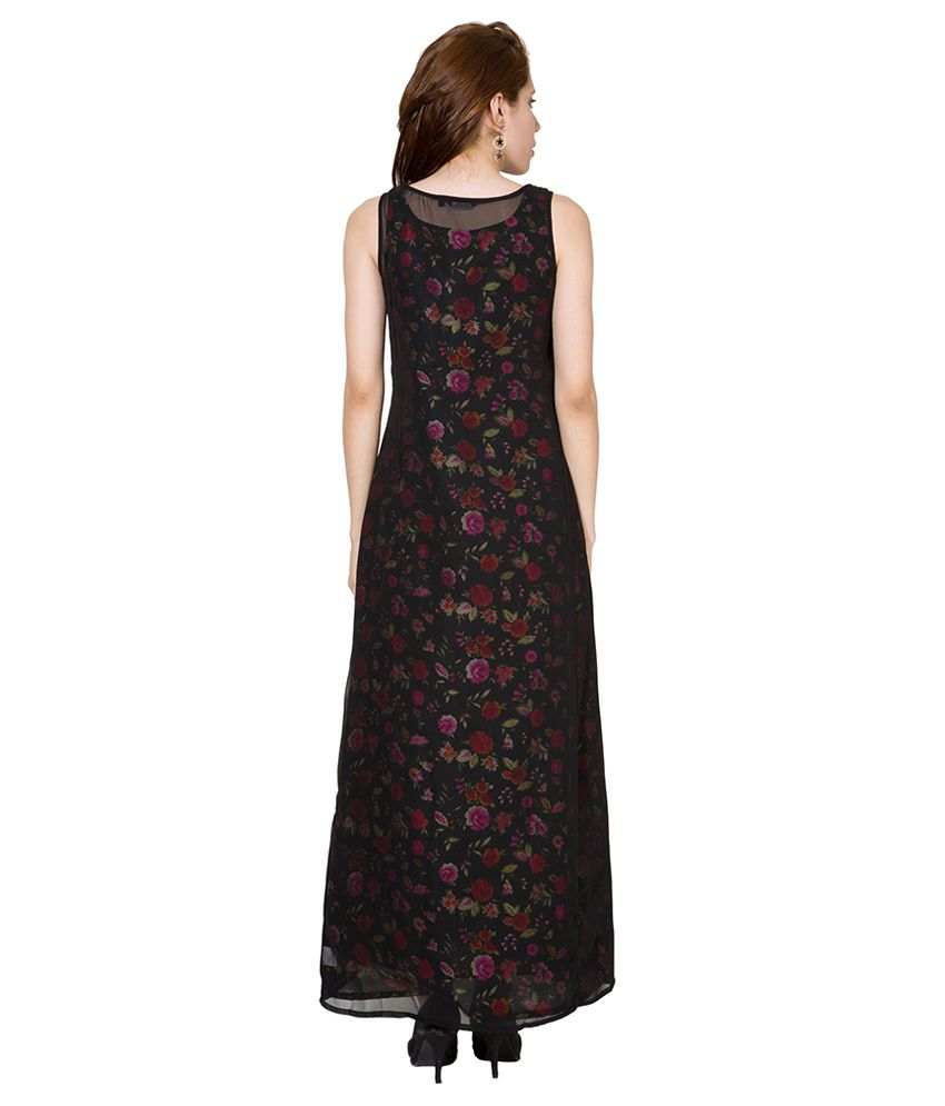 Folklore Black Boat Neck Dress - Buy Folklore Black Boat Neck Dress ... 3cfa34df4
