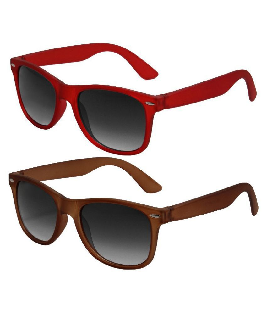 Audbury Black Wayfarer Sunglasses ( WFDS013-17 )