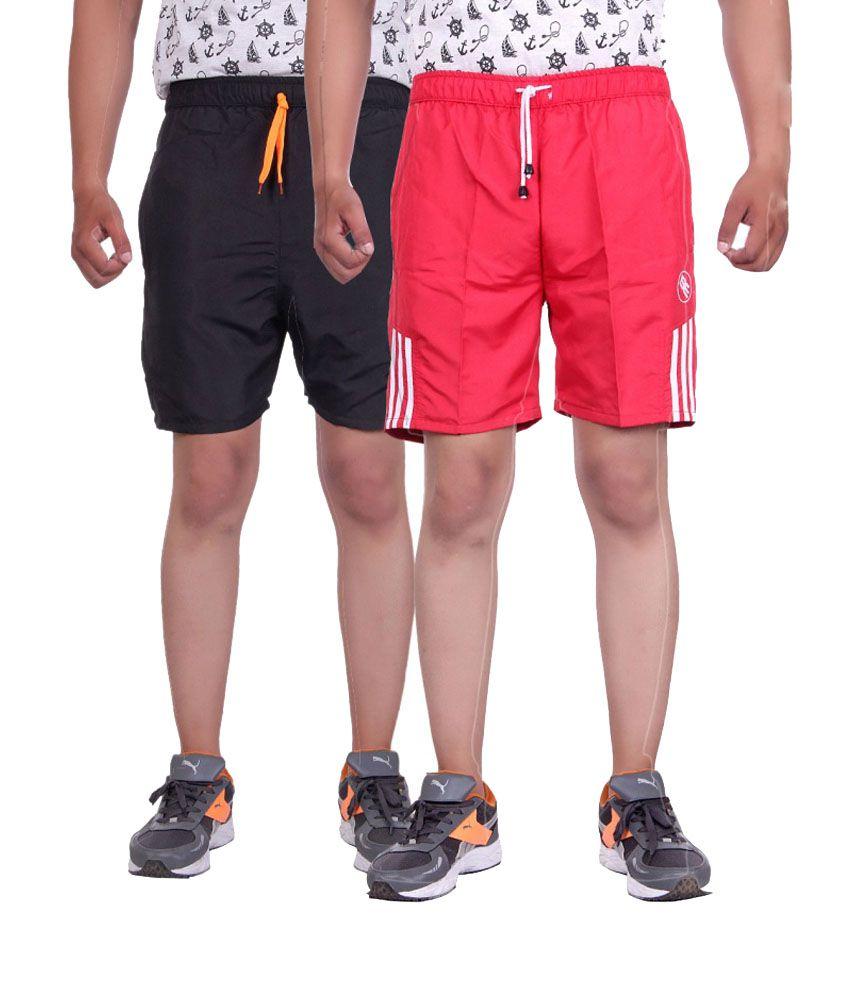 Belmarsh Red Shorts (Pack of 2)