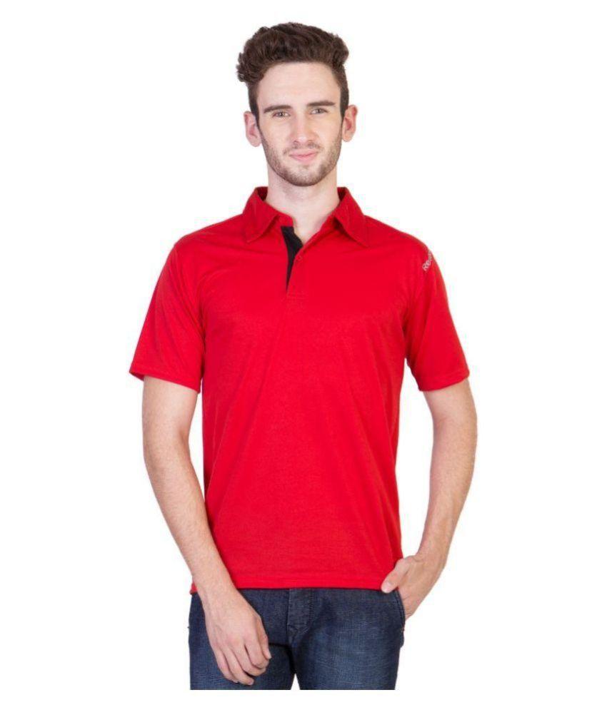 Reebok Red Polo T Shirts