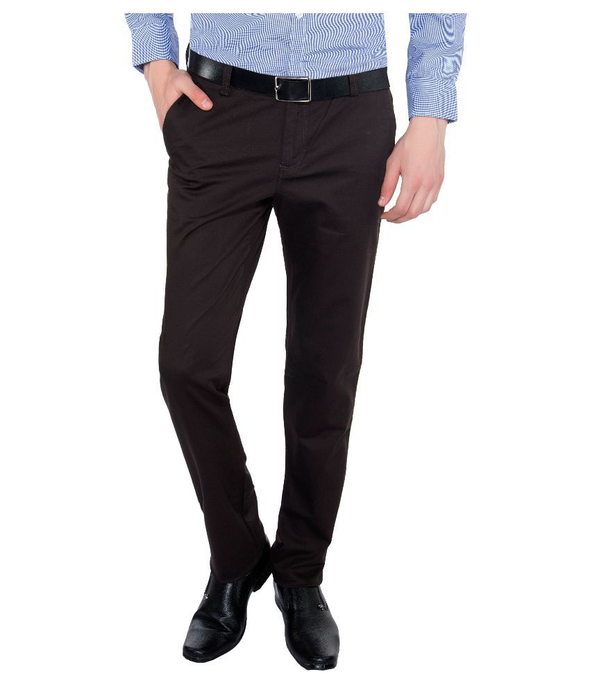 Vimal Brown Slim Fit Chinos