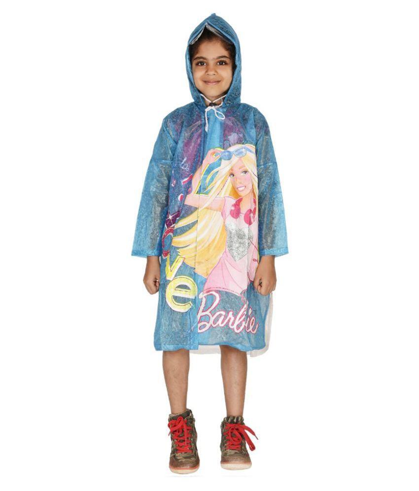 Zeel Blue Viscose Rainwear for Girls