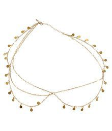 Fayon Golden Daily Casual Work Droplets And Multi Layer Chain Headgear