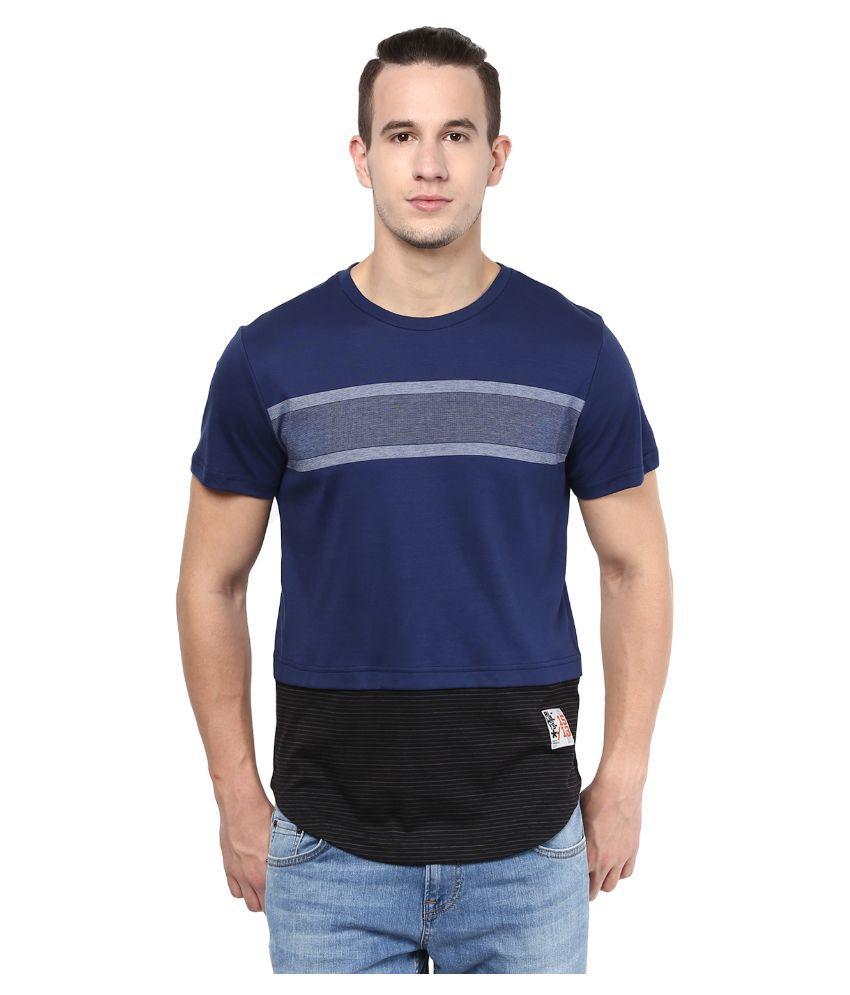 Atorse Navy Round T Shirt