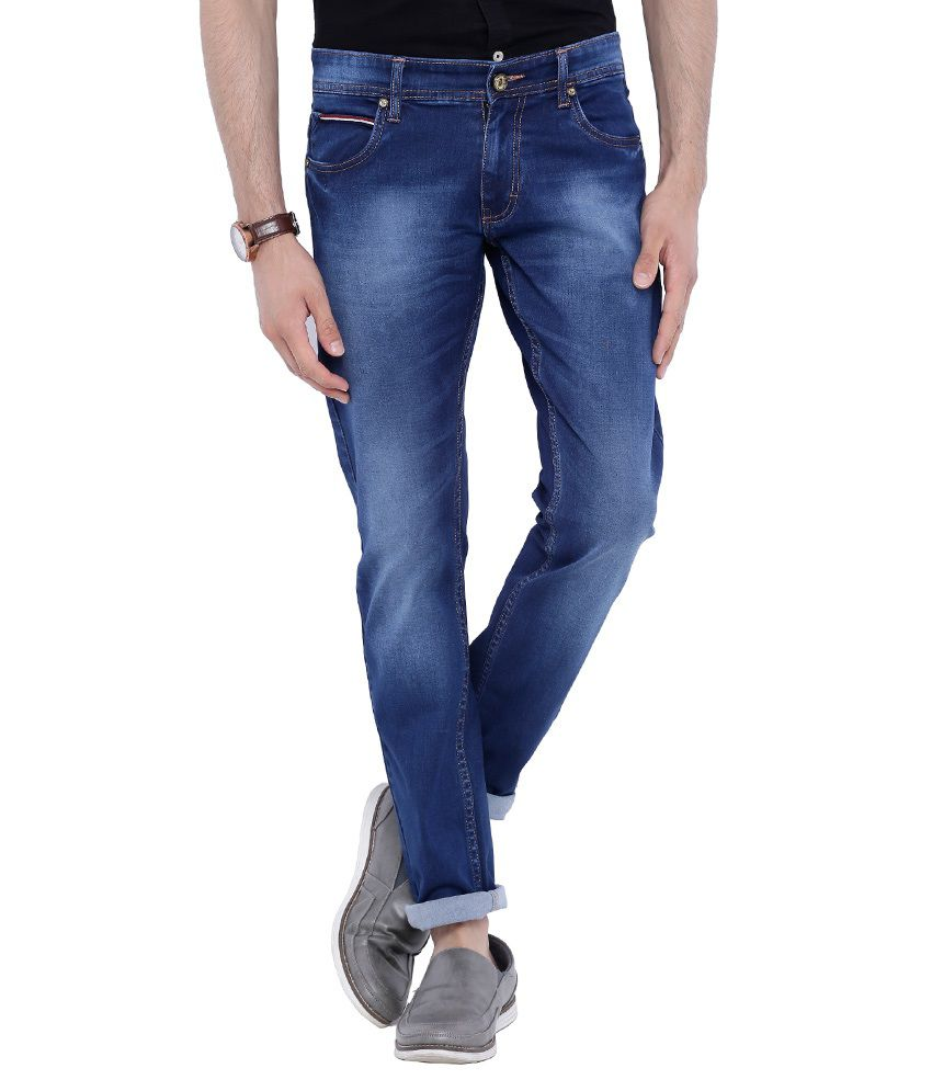 Bandit Blue Slim Fit Washed Jeans
