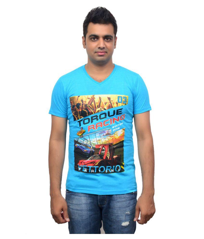East London Blue V-Neck T Shirt