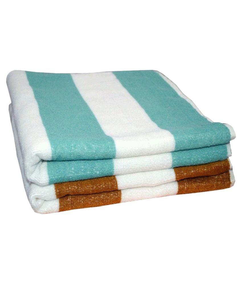 Bath Towel Sets Feather: Feathers Multicolor Cotton Bath Towels