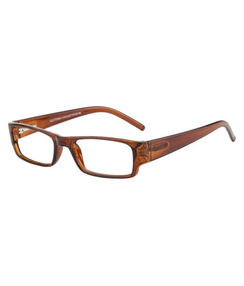 Glitters Brown Rectangle Spectacle Frame ( B1218C4 )