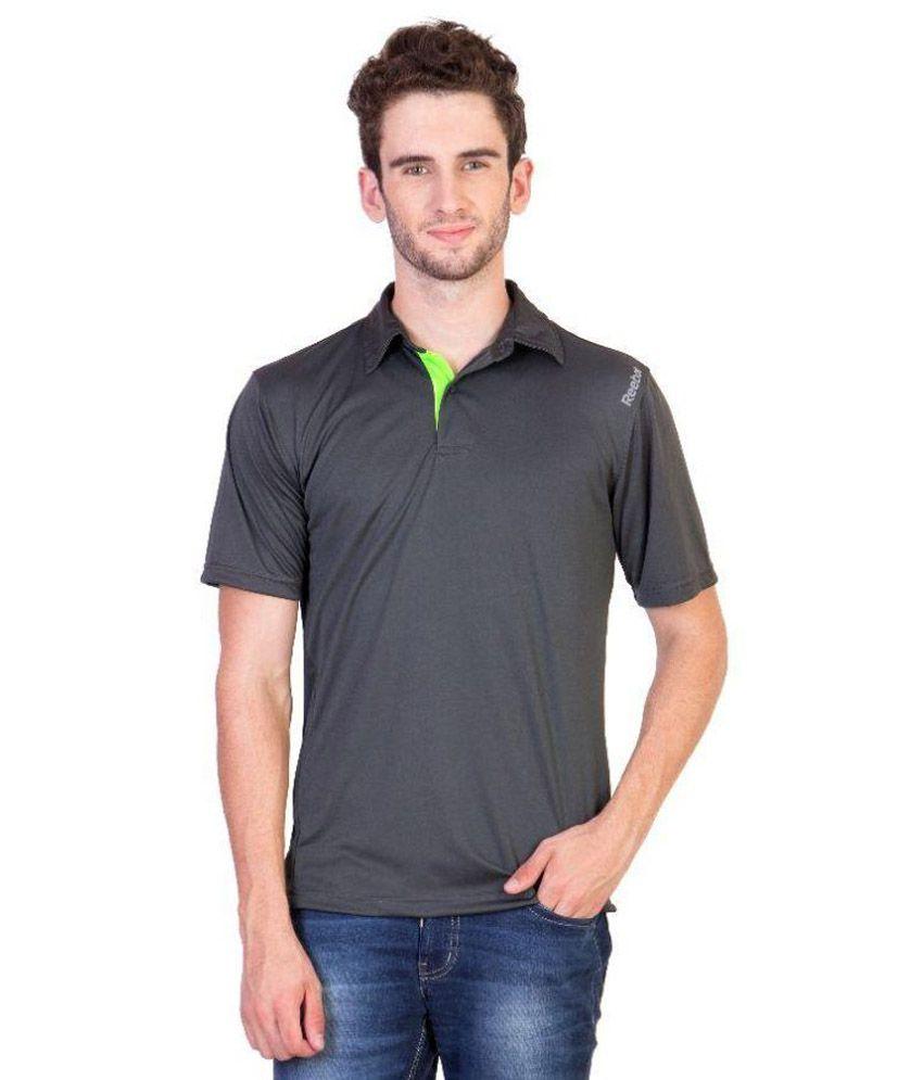 Reebok Grey Polo T Shirts