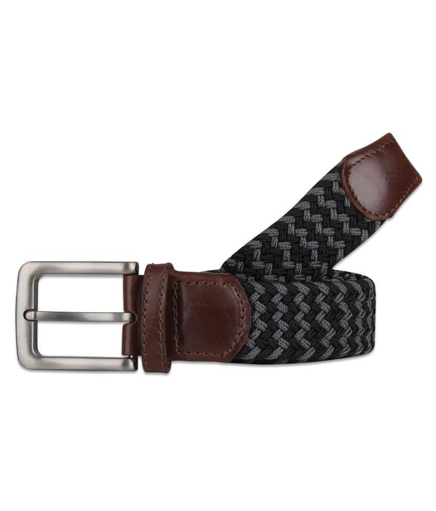 Zobello Black Casual Belt for Men