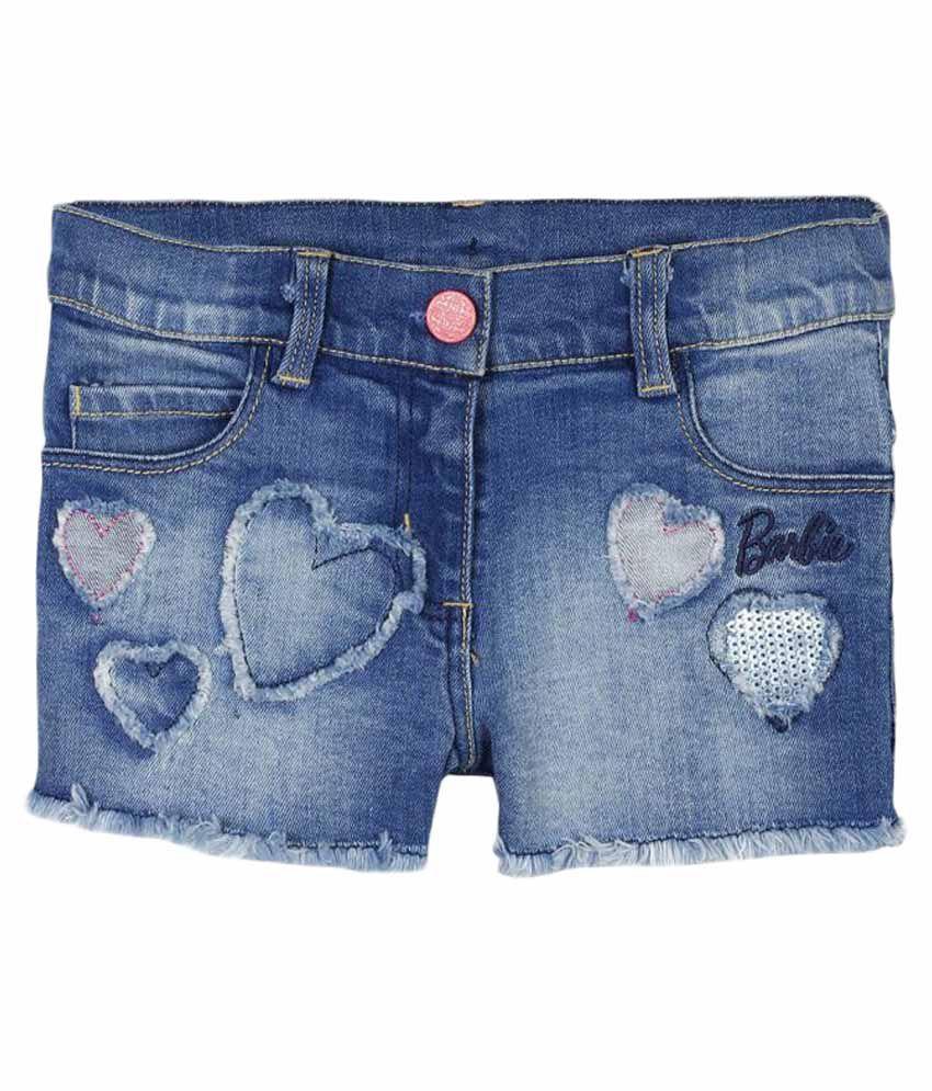 Barbie Blue Denim Shorts