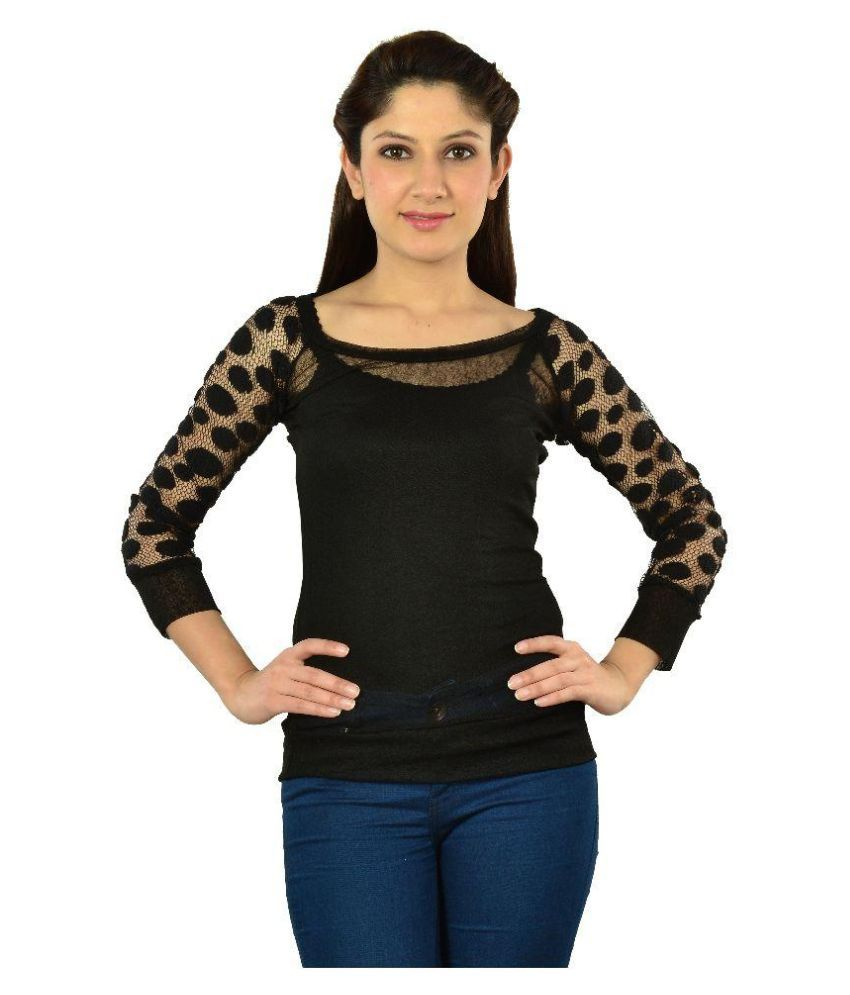 a57d191d0 Fashion Black Net Top - Buy Fashion Black Net Top Online at Best Prices in  India on Snapdeal