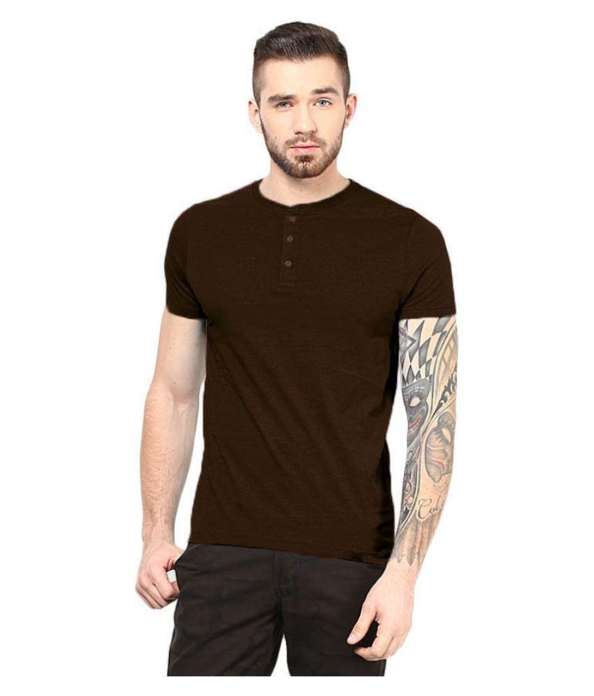 Gallop Brown Henley T Shirt