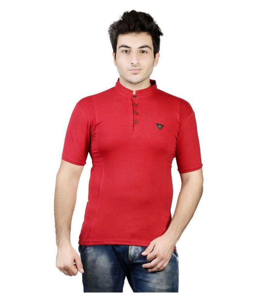 Karya Red Round T Shirt