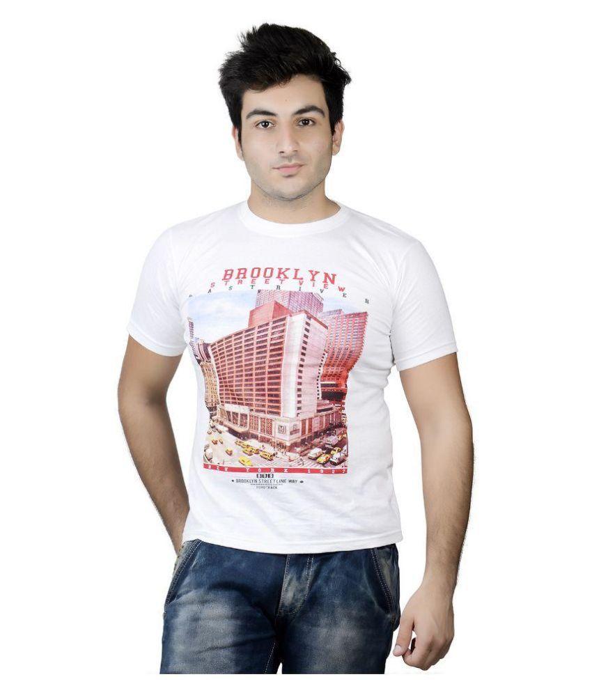 Karya White Round T Shirt