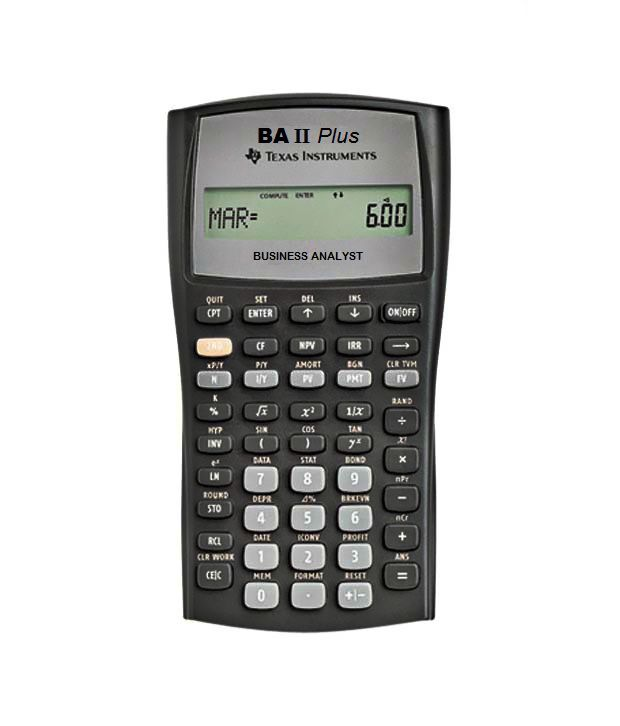 Texas Instruments Ba Ii Plus Financial Calculator Buy Online At