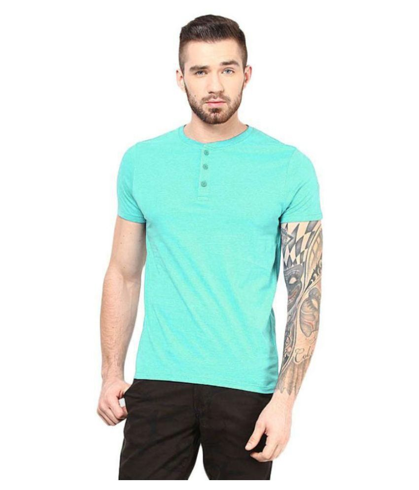 Gallop Turquoise Henley T Shirt