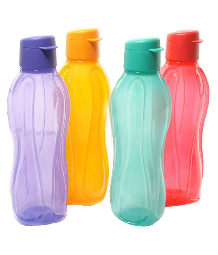Water Bottle Set: Signoraware Multicolour Plastic Water Bottle