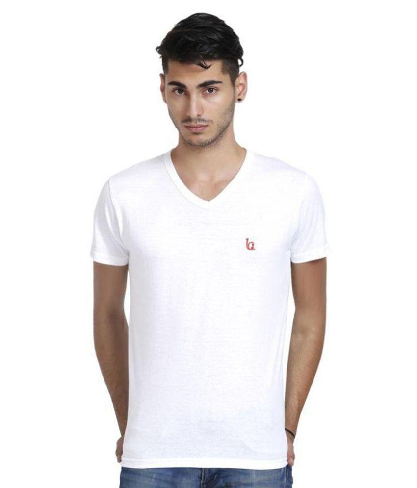 Blackcatz White V-Neck T Shirt