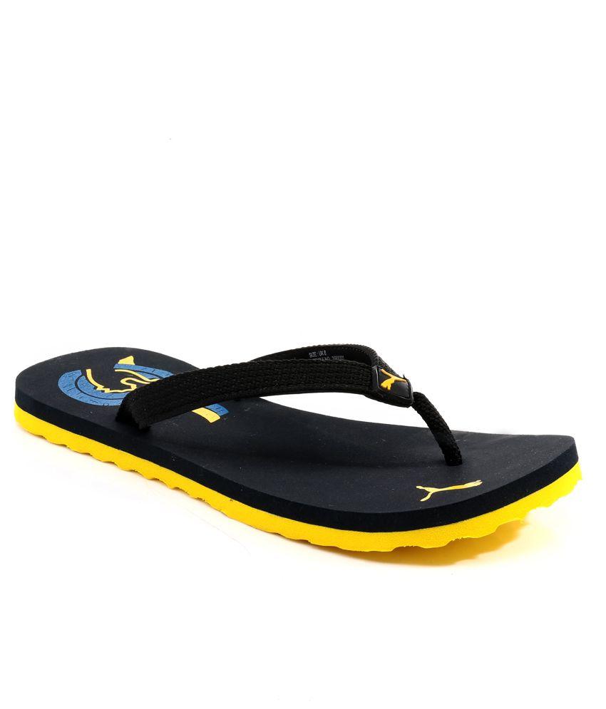 0d76120ef Puma Wave Dp Black Flip Flops Price in India- Buy Puma Wave Dp Black Flip  Flops Online at Snapdeal