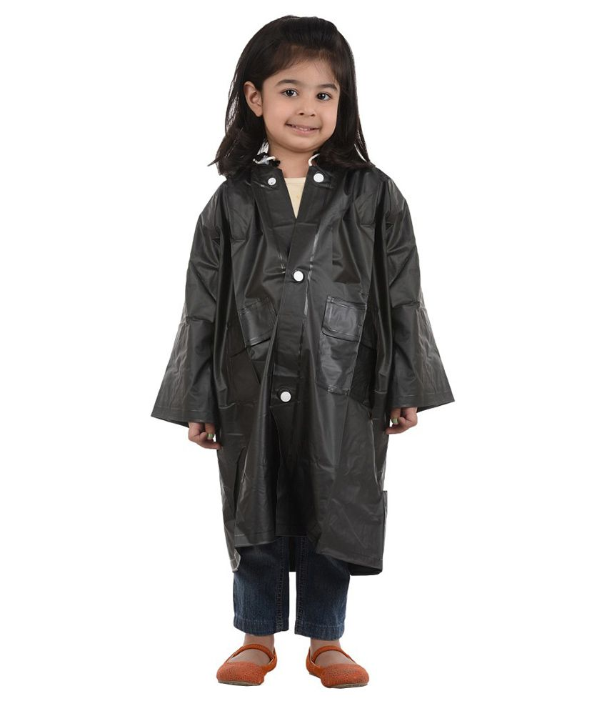 Inside Fashion Black Viscose Rainwear