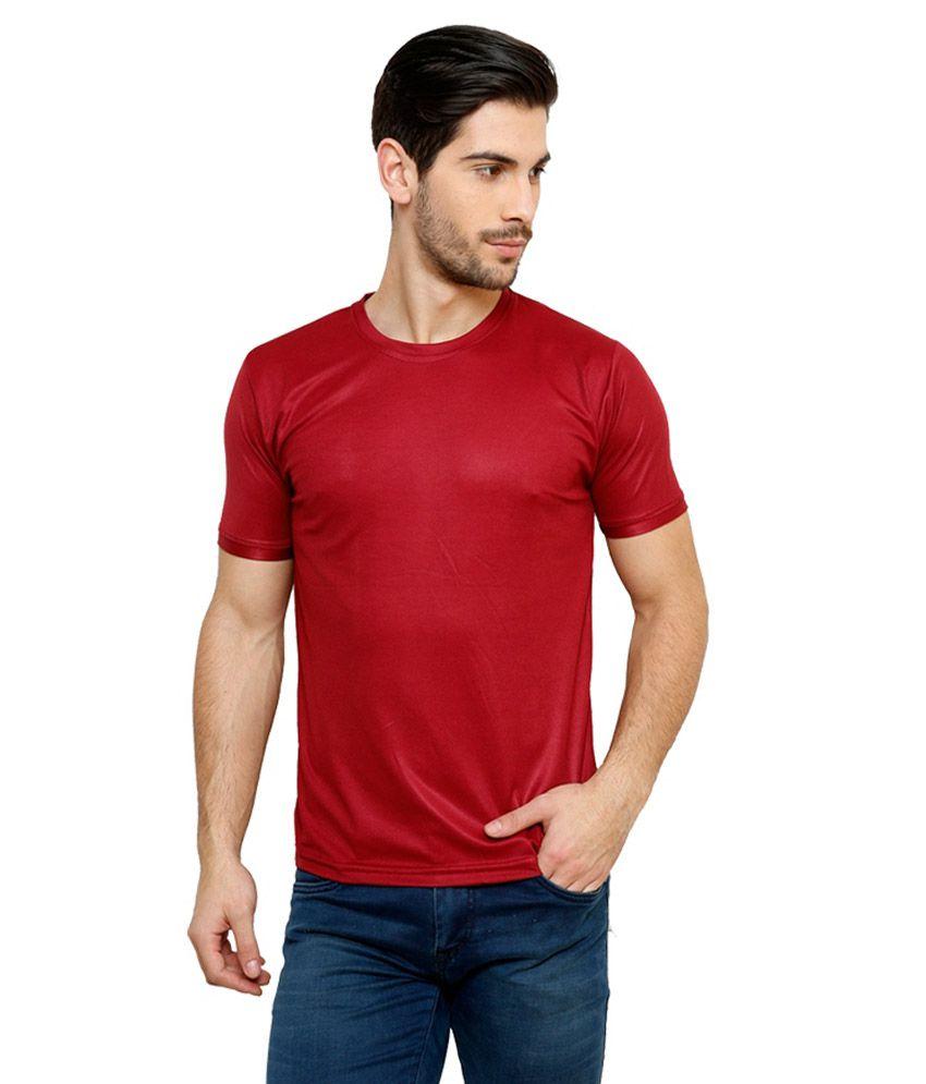 Grand Bear Dry-Fit Fitness T-Shirt - Maroon