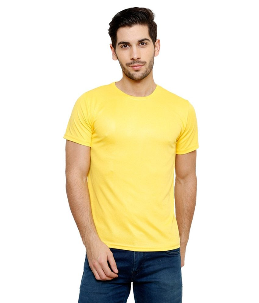 Grand Bear Dry-Fit Fitness T-Shirt - Yellow