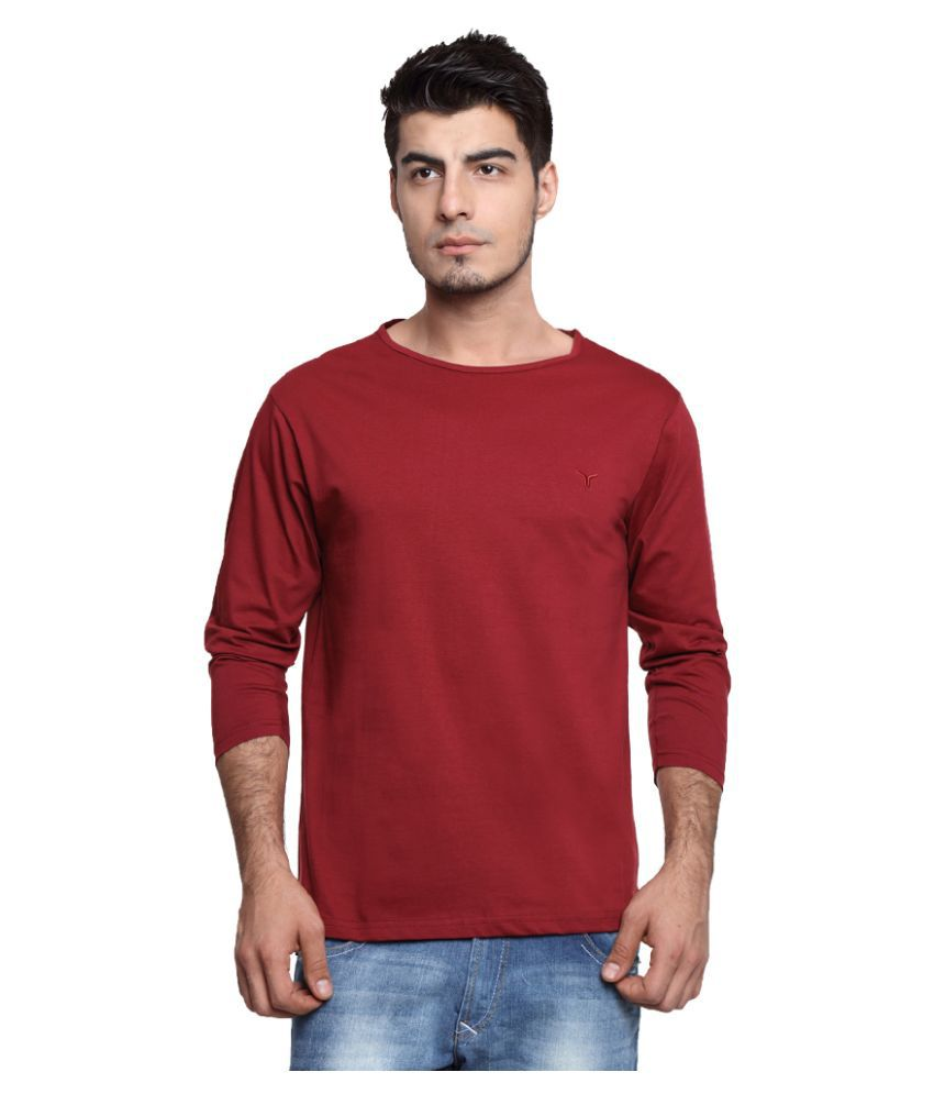 Youthen Maroon Round T Shirt