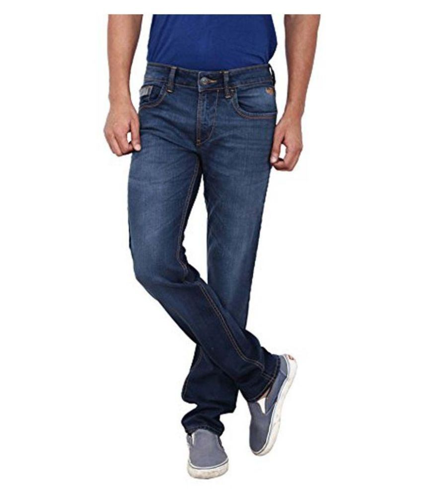 Flying Machine Blue Skinny Fit Faded Jeans