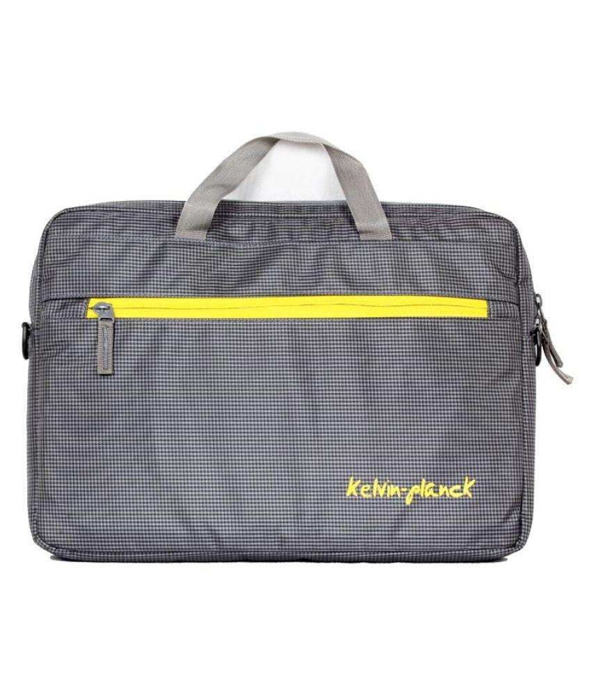 Kelvin Planck Grey Polyester Laptop Sleeve( 15-15.9 Inch)