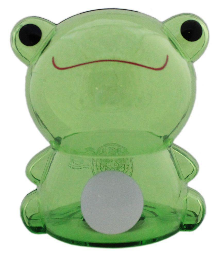 tootpado green plastic frog design piggy bank transparent money savings kiddy toy buy. Black Bedroom Furniture Sets. Home Design Ideas