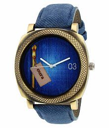Oura Blue Leather Analog Watch