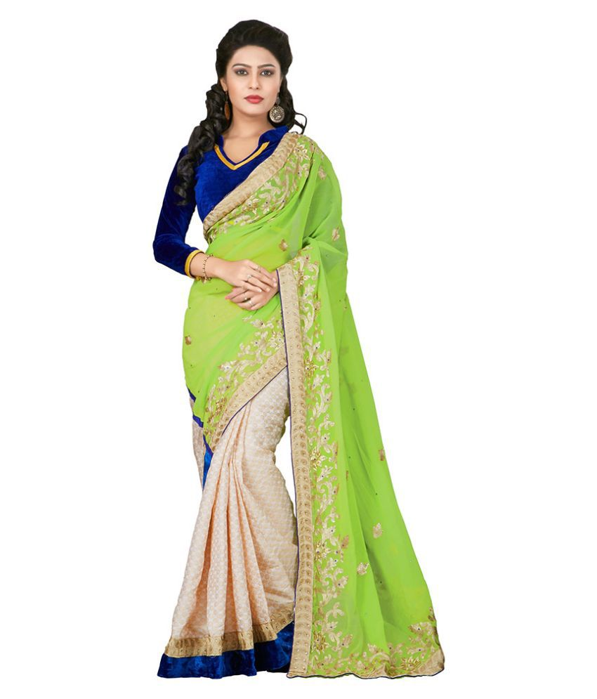 Apple Creation Green Georgette Saree