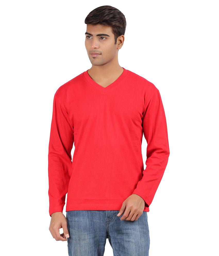 Arowana Red V-Neck T Shirt Pack of 2